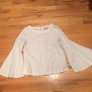 Loft bell-sleeve striped blouse size S